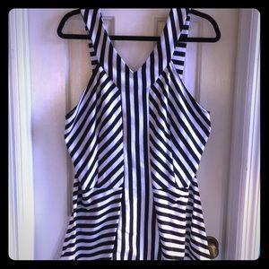Torrid 3x black and white striped shirt
